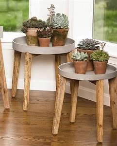 Terra, Round, Wooden, Plant, Stand