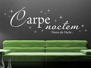 Wandtattoo Carpe Noctem : wandtattoo carpe noctem mit sternen von klebeheld ~ Sanjose-hotels-ca.com Haus und Dekorationen