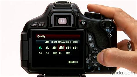 canon rebel tutorial image format  size options