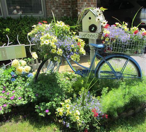 Repurpose Old Bike As Flower Garden  My Bike Flowers Are