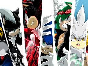 Silver Sonic Shadow and Mephiles