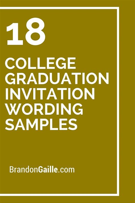 The 25+ Best Graduation Invitation Wording Ideas On