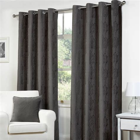 Bathroom Curtains 54 Drop by Fusion Palma Curtains 45 Quot Width X 54 Quot Drop Charcoal