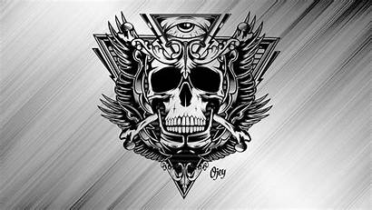 Skull Wallpapers Drawings Cool Aesthetic Backgrounds Harley