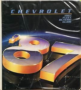 1987 Chevy Repair Shop Manual Caprice Monte Carlo El