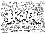Coloring Graffiti Pages Popular sketch template
