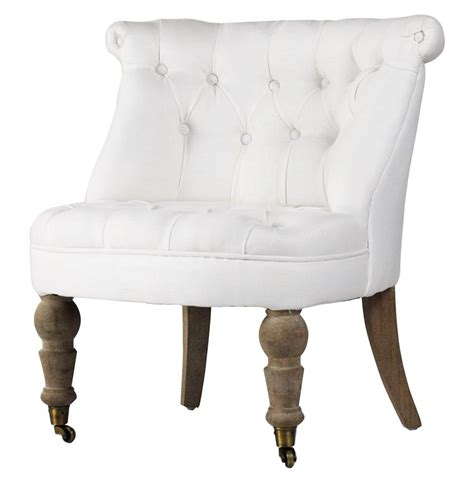 amelie white linen tufted accent chair kathy kuo home