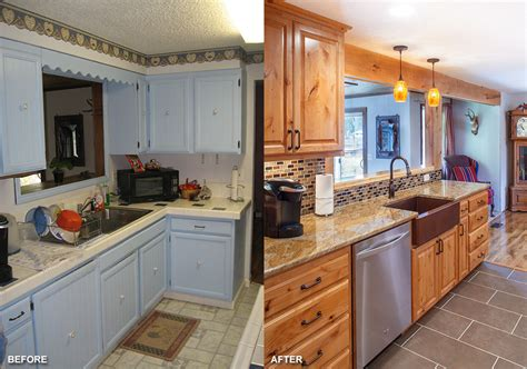 galley kitchen remodels before and after lyons oregon award winning kitchen remodel hueller 8299