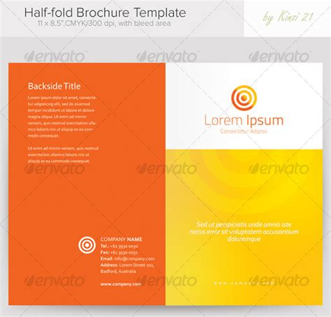 Half Fold Brochure Template Word 36 half fold brochure templates free premium templates