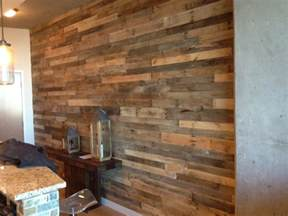reclaimed wood wall viewing gallery