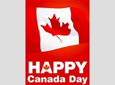 Waving Canadian Flag Canada Day Card Birthday & Greeting
