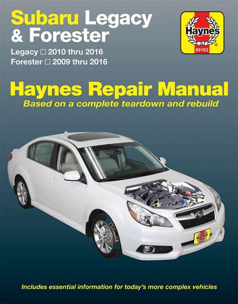automotive repair manual 1998 subaru forester user handbook legacy haynes manuals