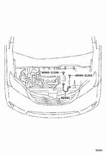 2012 Toyota Sienna Console Wiring Harness  Engine  Room