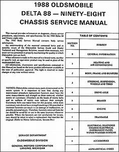 1988 Oldsmobile Delta 88 Royale  Ninety Eight Regency Repair Shop Manual
