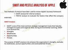 Apple SWOT and PESTLE Analysis Apple Marketing Case Study