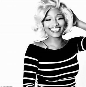 nicki minaj laughing black and white gif | WiffleGif