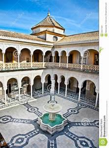 Patio Principal Of La Casa De Pilatos  Seville In Spain