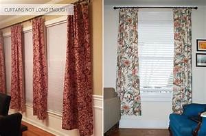 hanging curtains all wrong emily henderson With should curtains go to the floor
