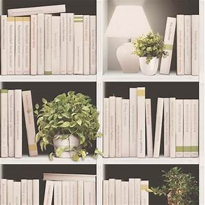 Library, Books, With, Plants, And, Lamps