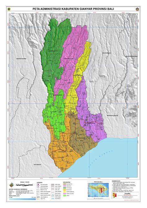 administrasi kabupaten gianyar peta tematik indonesia