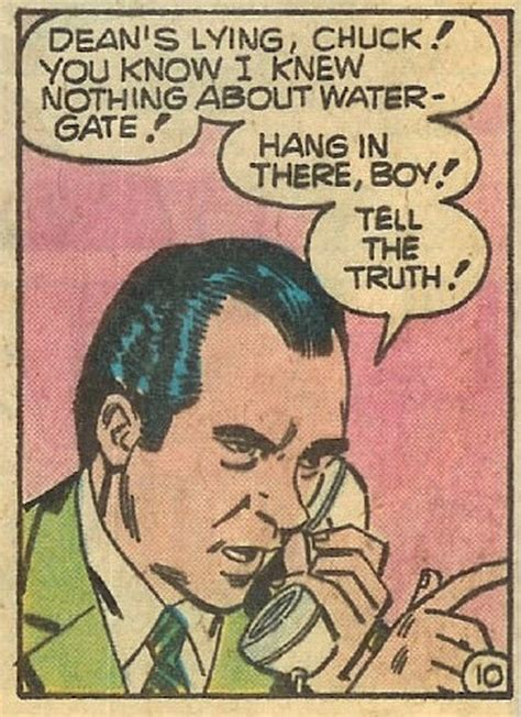 comic panel watergate comics cartoon hang there dick scandal via tell crumb