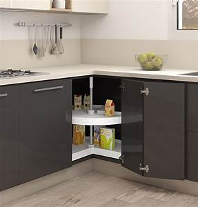 Magic Corner Carousel For Kitchen Units 3  4 Pull Out Trays