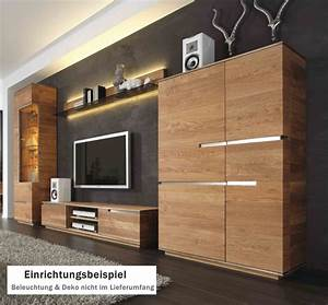 Wohnwand Eiche Massiv : wohnwand massivholz ~ Pilothousefishingboats.com Haus und Dekorationen
