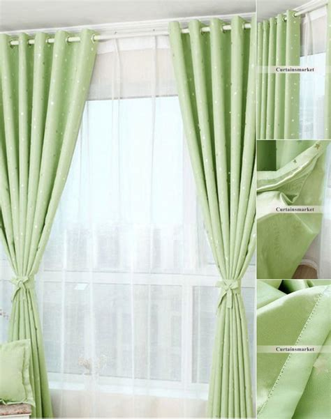 apple green curtains images