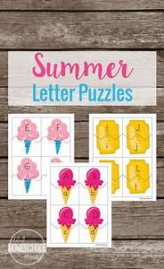 free summer letter puzzles activities toddler preschool With letter puzzles for preschool