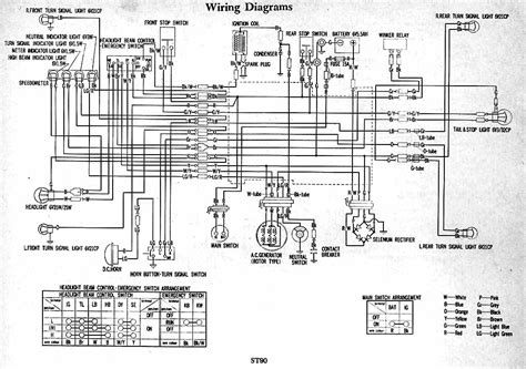 honda st90 wiring diagram 61635 circuit and wiring diagram