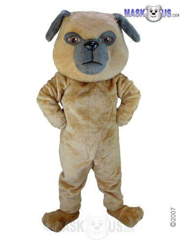 pug deluxe adult size pug dog mascot costume