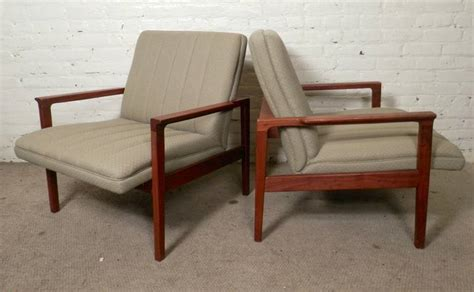 Mid-century Modern Teak Frame Arm Chairs For Sale At 1stdibs