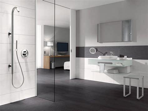 Badezimmer Fliesen Akzente by Badezimmer In Grau Wei 223 Mit Fliesen Graue Bad Beige Mild 5