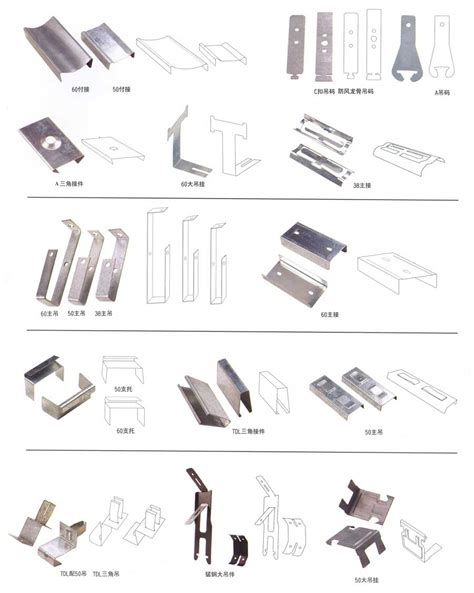 fittings and keels for suspended ceilings
