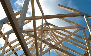 roof beam modern wooden roof with main beam and joist With cost of trusses