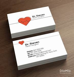 Doctor business cards diomioprint for Doctors business cards