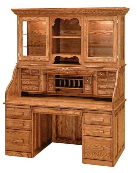 oak bureau desk luxury amish rolltop desk office furniture solid wood oak