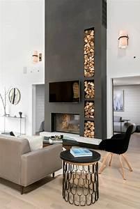 1001 idees pour transformer une cheminee rustique en moderne With tres bonne peinture pour plafond