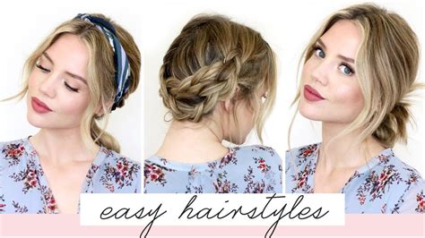 5 EASY Hairstyles For Short/Medium Length Hair Spring