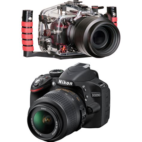 nikon d3200 dslr 18 55mm vr lens kit ikelite 6801 32 underwater housing kit with nikon d3200