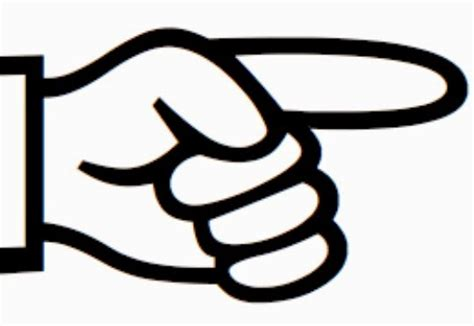 pointing finger clipart of an educator accountability finger pointing