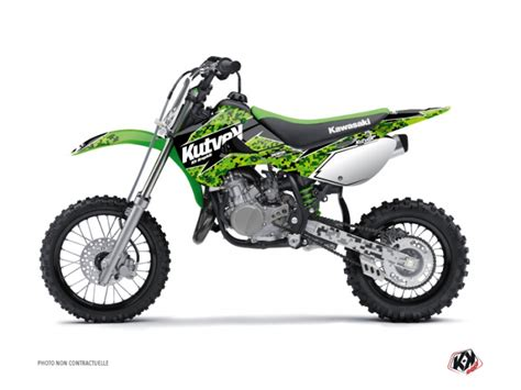 kit deco 65 kx kit d 233 co moto cross predator kawasaki 65 kx noir vert kutvek kit graphik