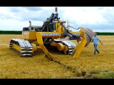 inter drain gp series v plow laying trenchless field