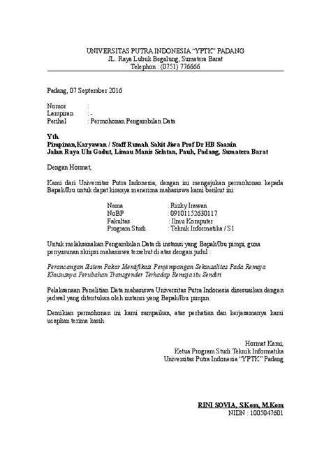 contoh surat permohonan penelitian skripsi rizky