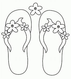 flip flops coloring pages coloring home With flip flops