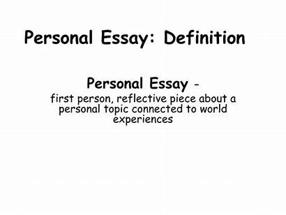 Essay Personal Definition Ppt Presentation Powerpoint