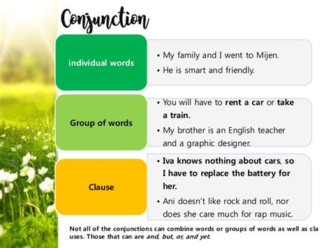 English Conjunction