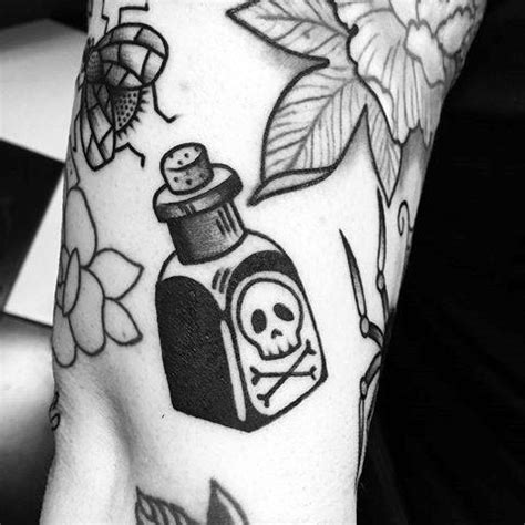 poison bottle tattoo designs  men killer ink ideas
