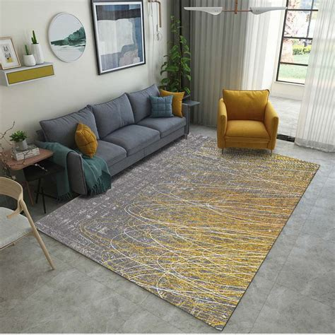 Washable Living Room Area Rugs by Anti Slip Rectangle Nordic Style Area Rug For Living Room