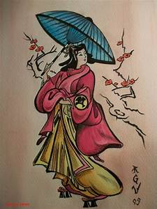 Geisha watercolor by Robert-Greg-Voulgari on DeviantArt
